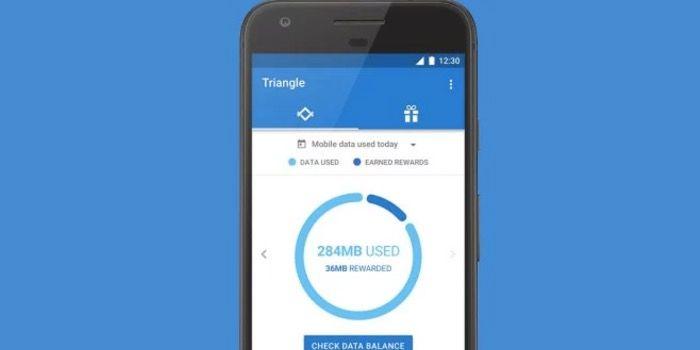 triangle ahorrar datos app