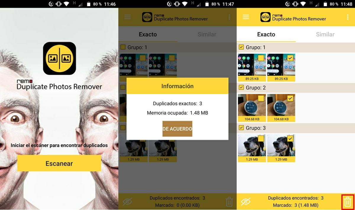 tutorial remo app eliminar fotos duplicadas android