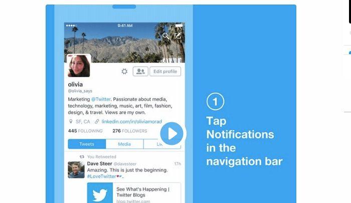 twitter notificaciones filtro