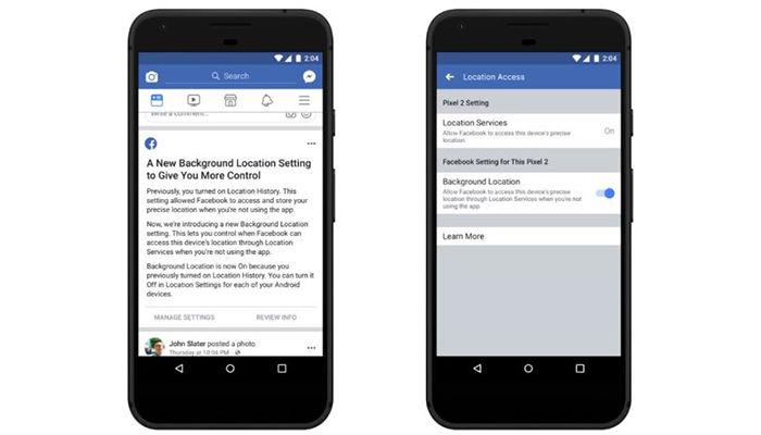 nuevo control de ubicacion en facebook Android