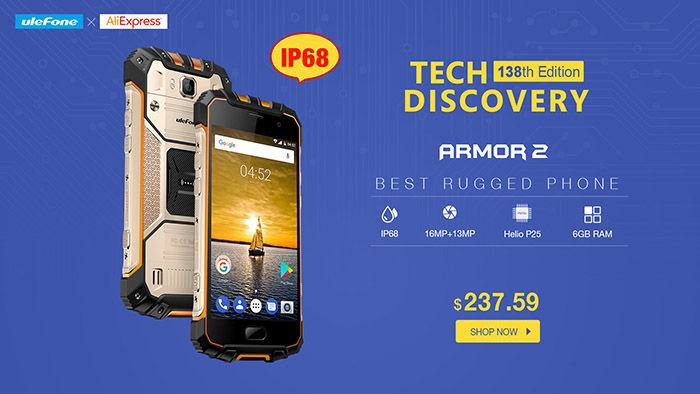 Comprar Ulefone Armor 2 Aliexpress promoción
