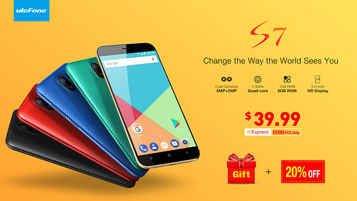 Ulefone S7 oferta lanzamiento