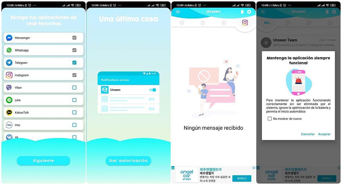 unseen ver mensajes instagram chats sin ser visto descargar app
