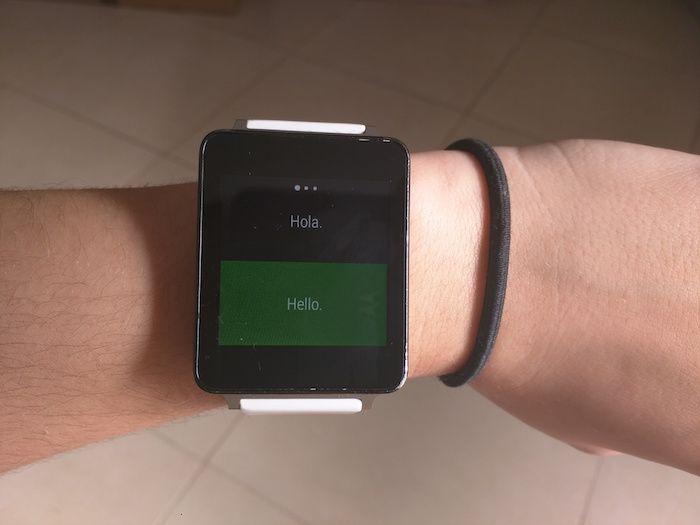 usar el traductor Microsoft en Android Wear