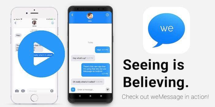 Cómo usar iMessage desde Android con weMessage