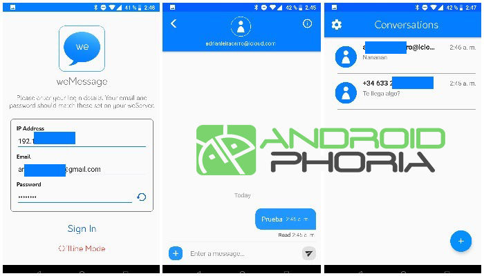 Wemessage Android