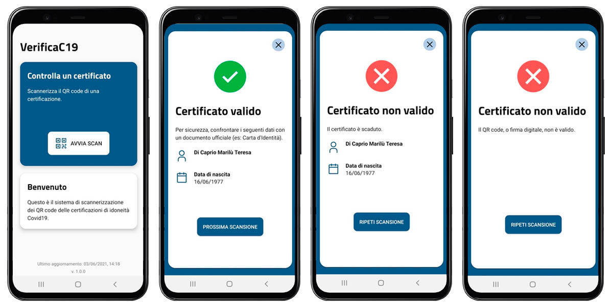 validar certificado covid europa móvil