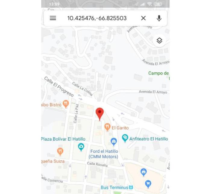 ver coordenadas google maps