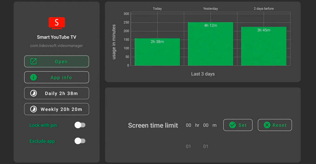 ver estadísticas de uso de aplicaciones en Android TV con TVUsage