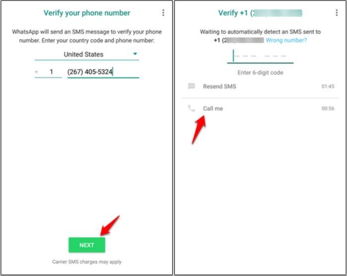 Verificar WhatsApp sin tarjeta SIM