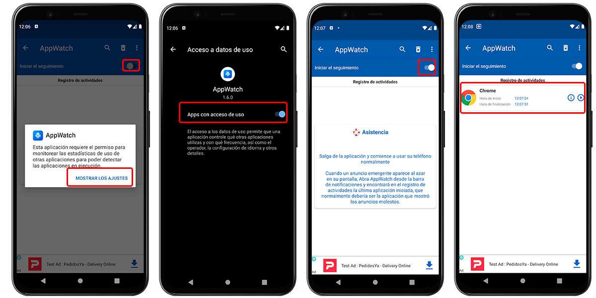 vigilar actividad aplicaciones publicidad android