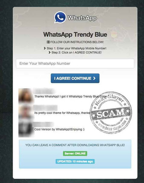 virus whatsapp trendy blue