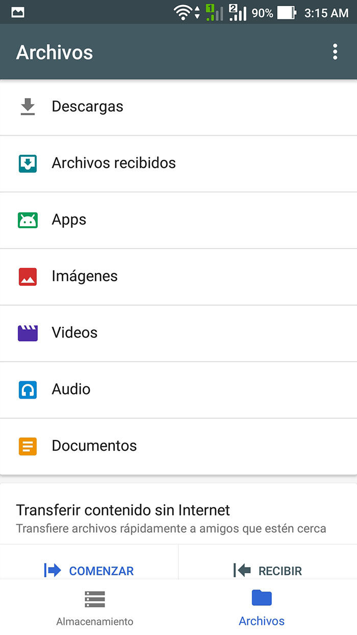 Visor de Archivos Google's Files Go