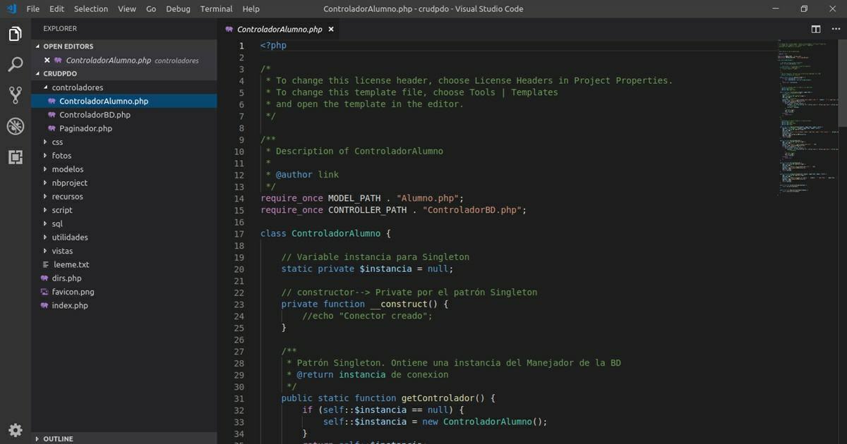 visual studio code para chrome os