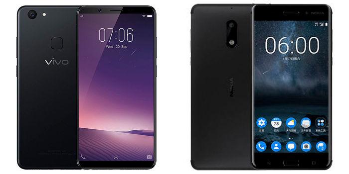 Vivo V7+ Nokia 6