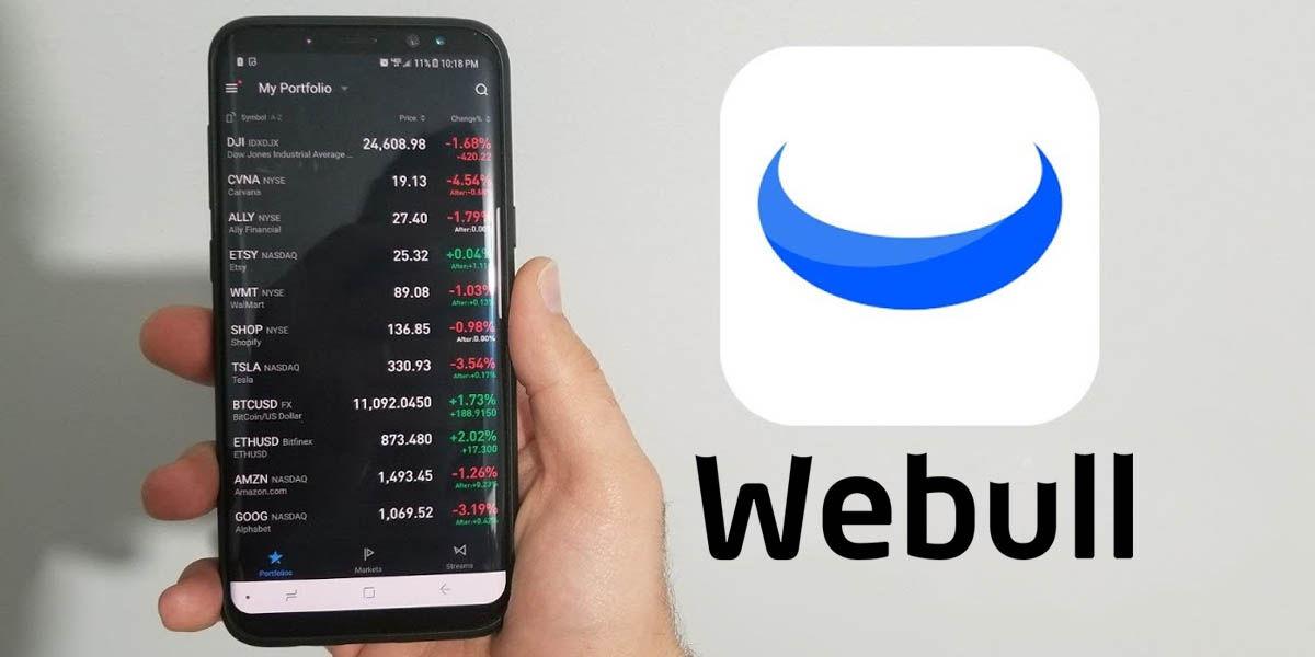 webull aplicación invertir en la bolsa android