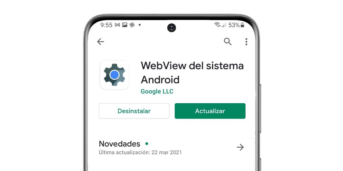 webview problemas actualizacion modo seguro google