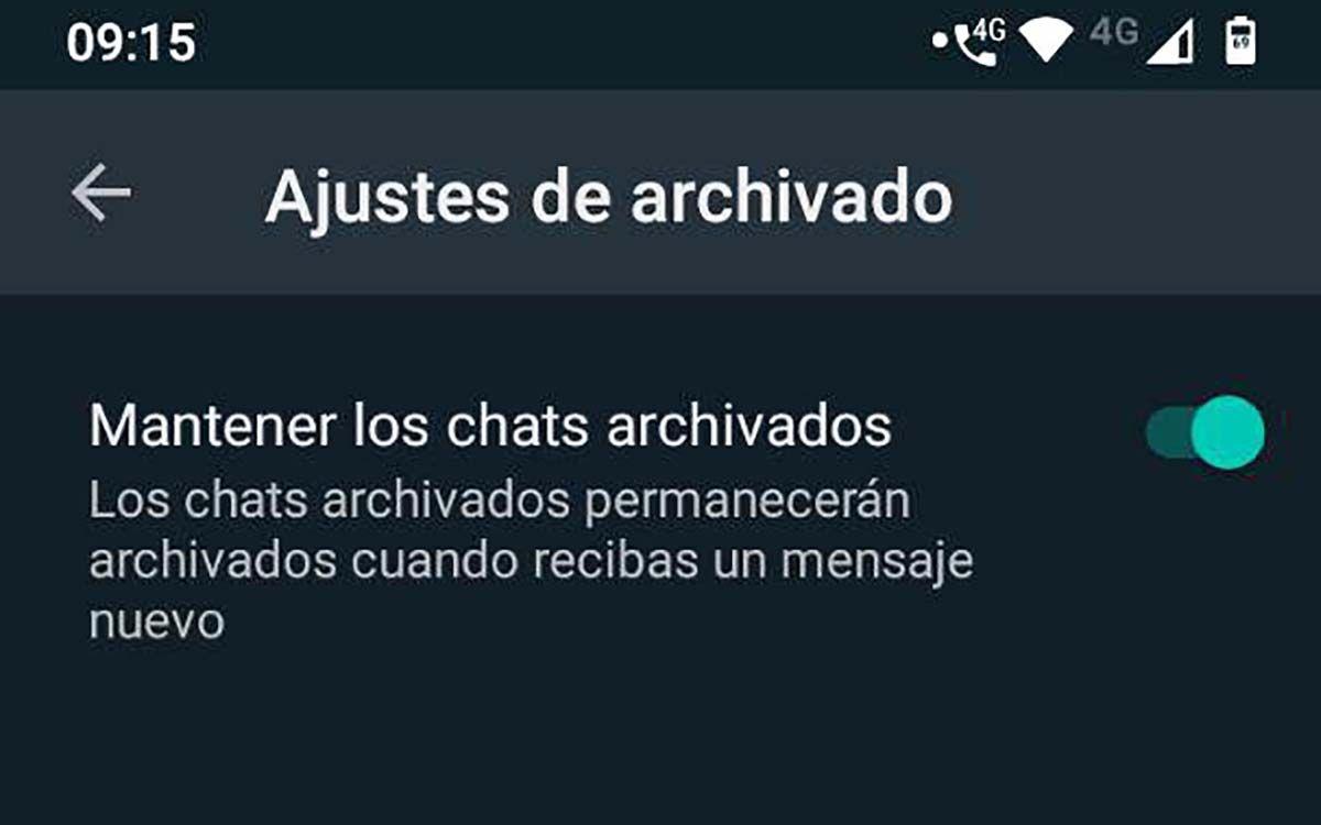 whatsapp archivar permanentemente chats modo vacaciones whatsapp beta