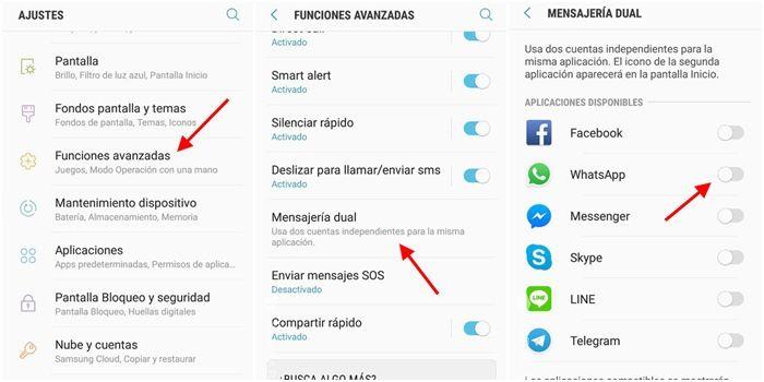 whatsapp mensajeria dual