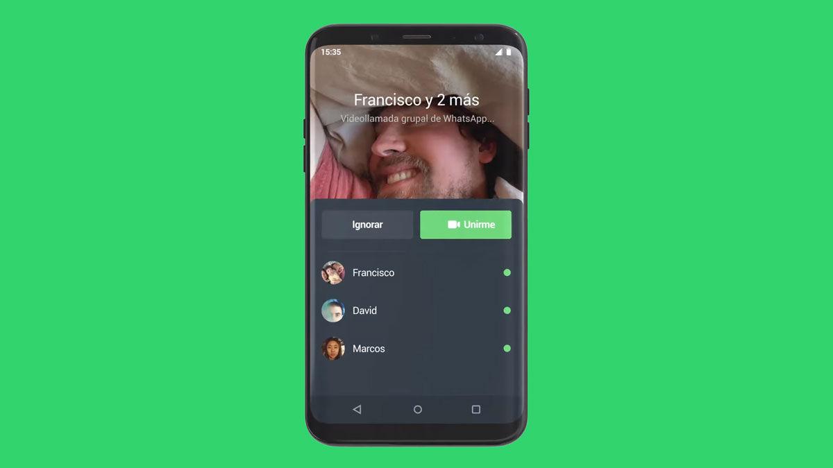 WhatsApp unirse videollamadas grupales perdidas