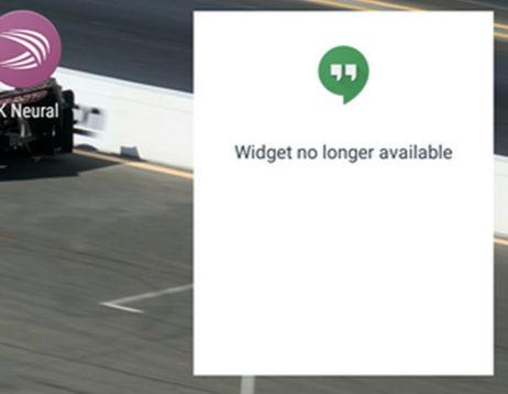 widget no funciona hangouts 5.0