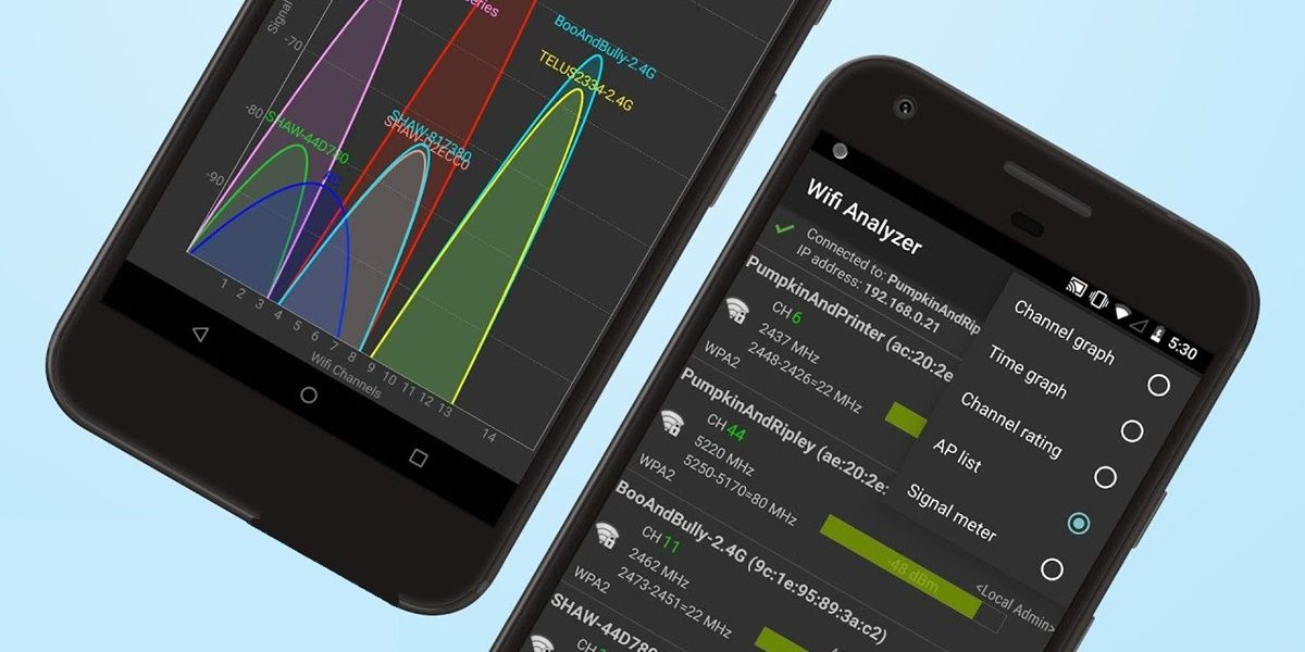 wifi analyzer app android detectar mejor canal para router
