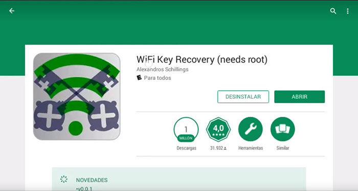 WiFi Key Recovery en Google Play