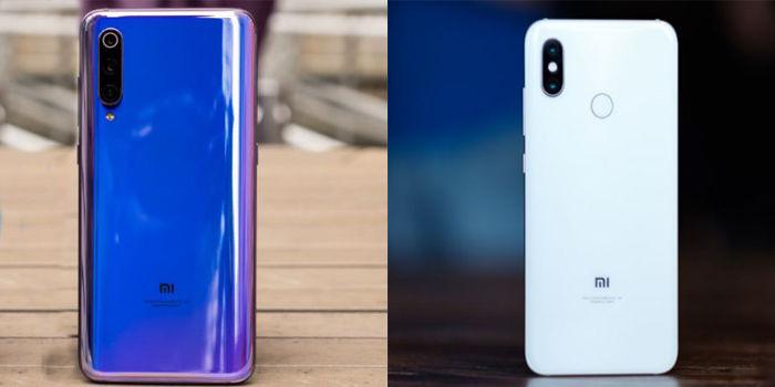 xiaomi Mi 8 y Xiaomi Mi 9 parte trasera