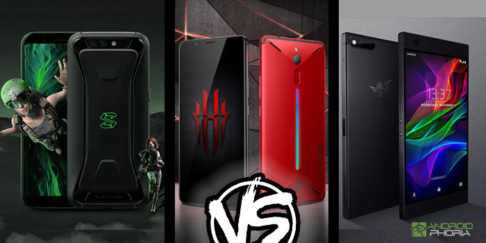 xiaomi black shark vs nubia red magic vs razer phone mejor smartphone gamer