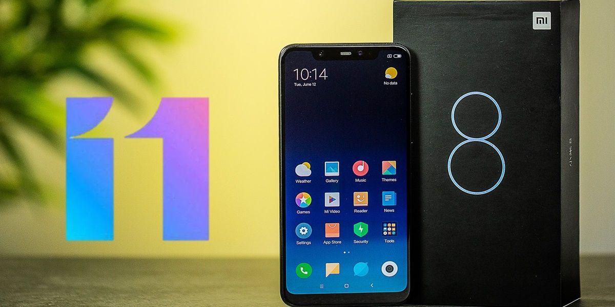 xiaomi mi 8 actualiza android 10 miui 11