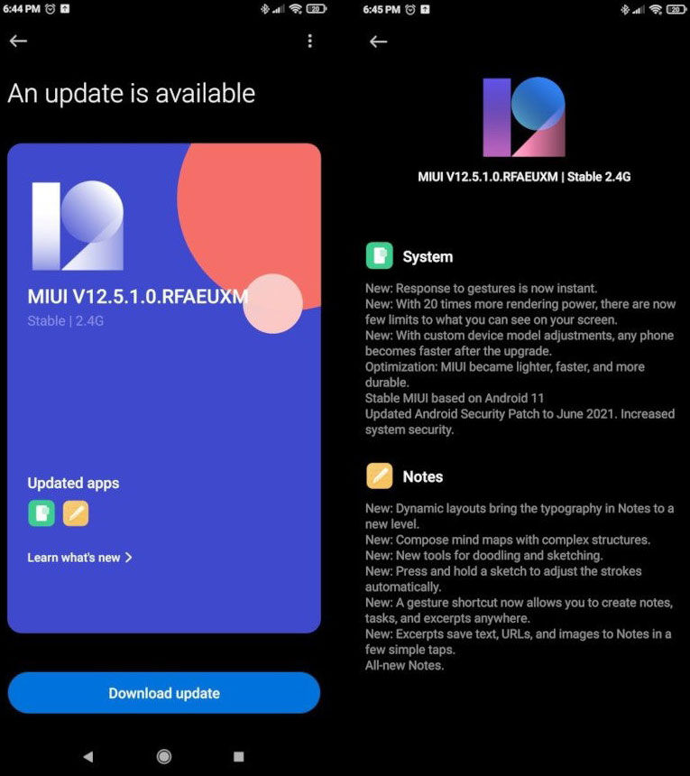 Xiaomi Mi 9 MIUI 12.5 novedades