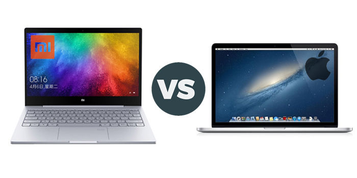 xiaomi mi laptop vs macbook air 13