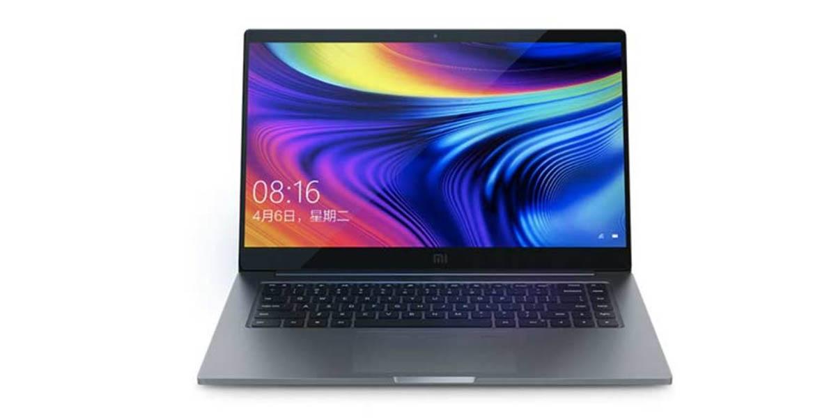 xiaomi mi notebook pro 15 2020 con pantalla full HD y teclado retroiluminado