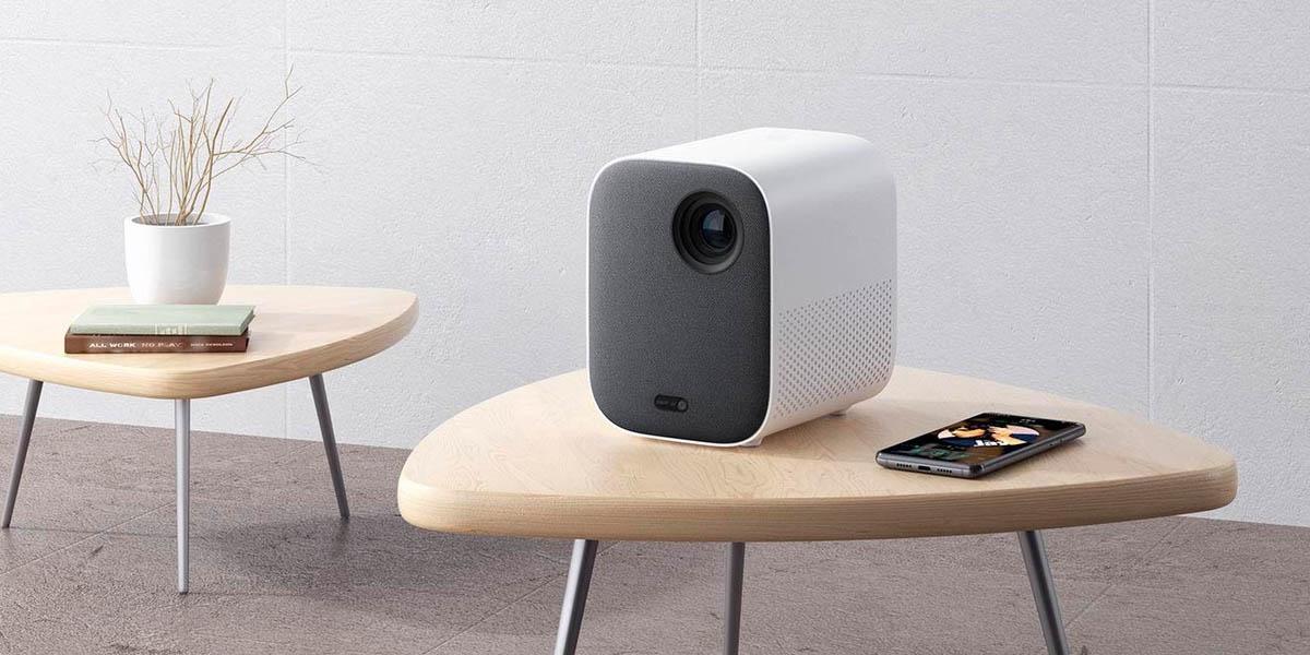 xiaomi mi smart compact proyector económico con android tv para cine en casa
