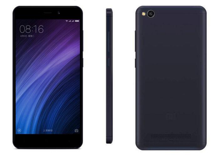 Xiaomi Redmi 4A negro frontal lateral trasera