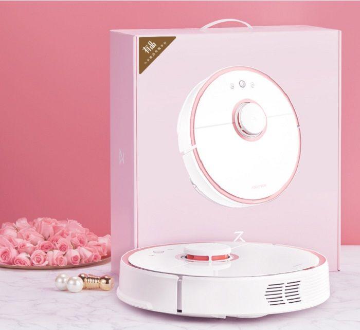 xiaomi robot aspirador rosa
