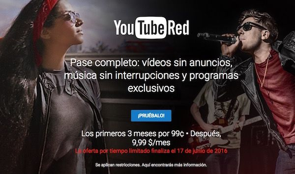 youtube red spain