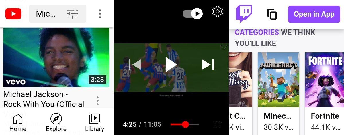 youtube twitch navegador para wear os