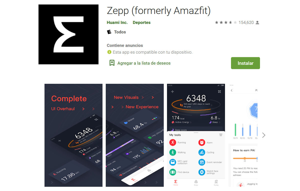 zepp app play store google