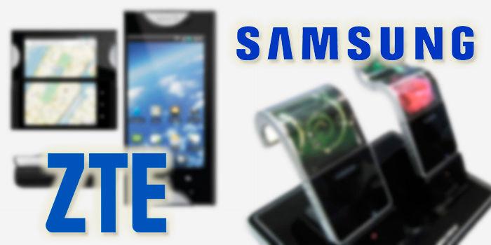 pantalla plegable ZTE vs Samsung